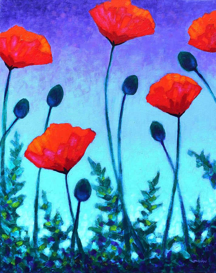 Flowers Painting - Poppy Corner by John  Nolan