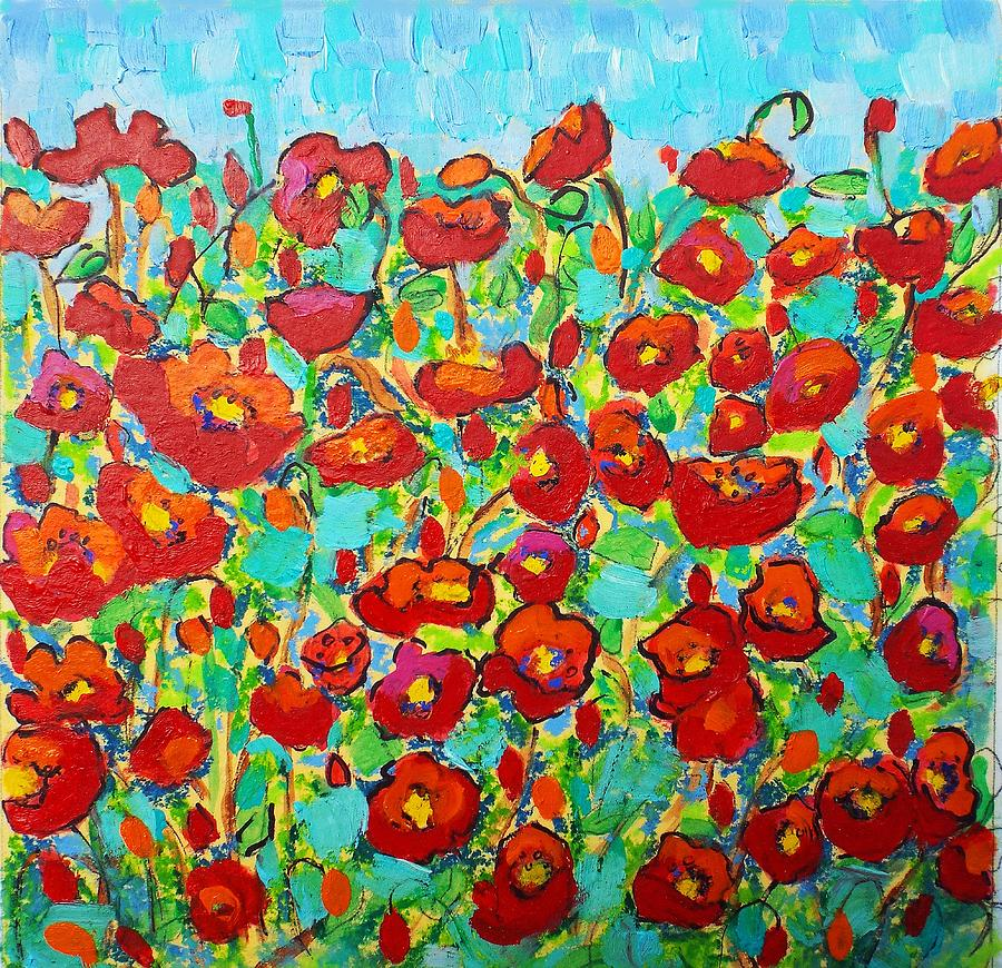 Poppy Dance Painting