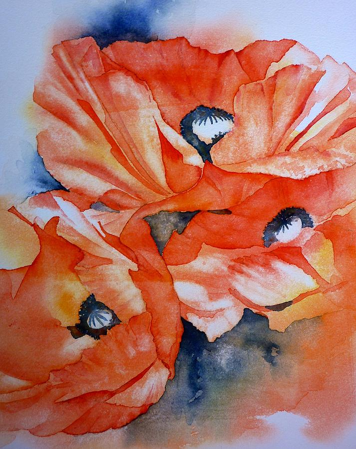 Poppy Painting - Poppy-faces by Thomas Habermann
