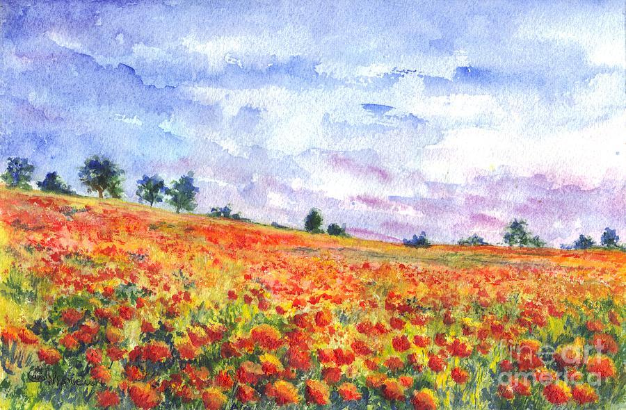 Poppy Field Painting By Carol Wisniewski