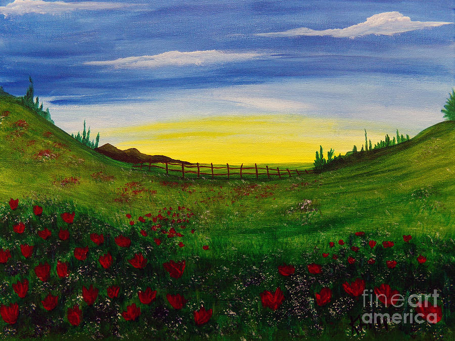 Poppy Field by Kami Catherman
