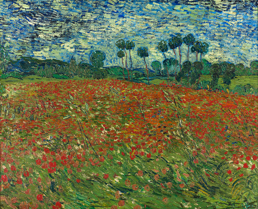 1890 Painting - Poppy Field by Vincent van Gogh