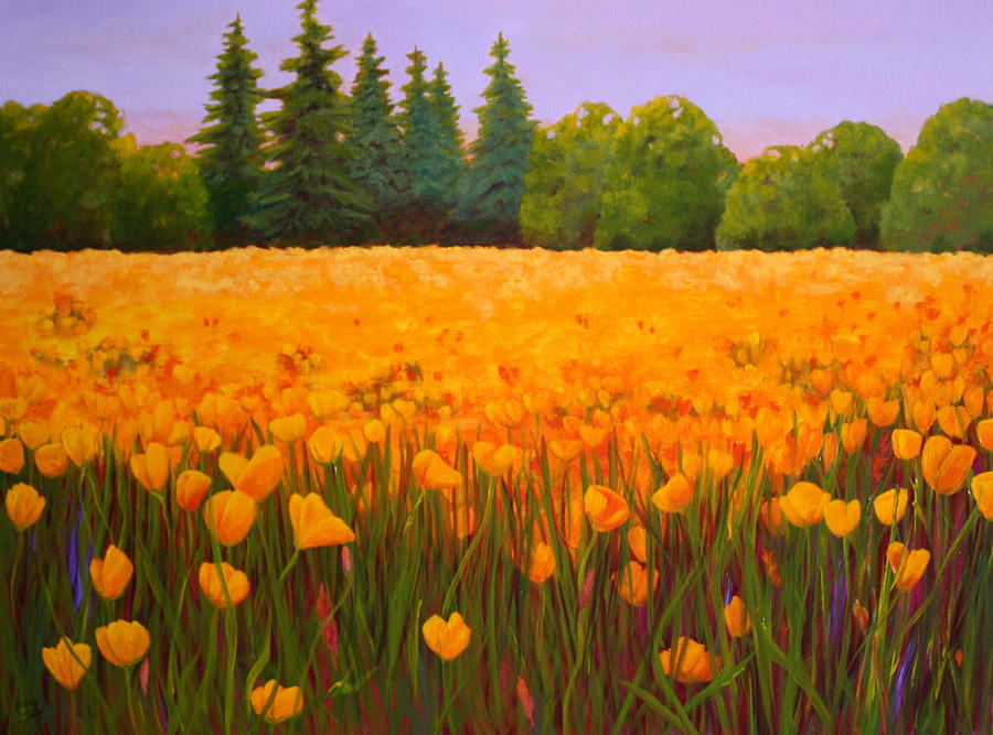 Poppy Fields Forever Painting By Nancy Jolley