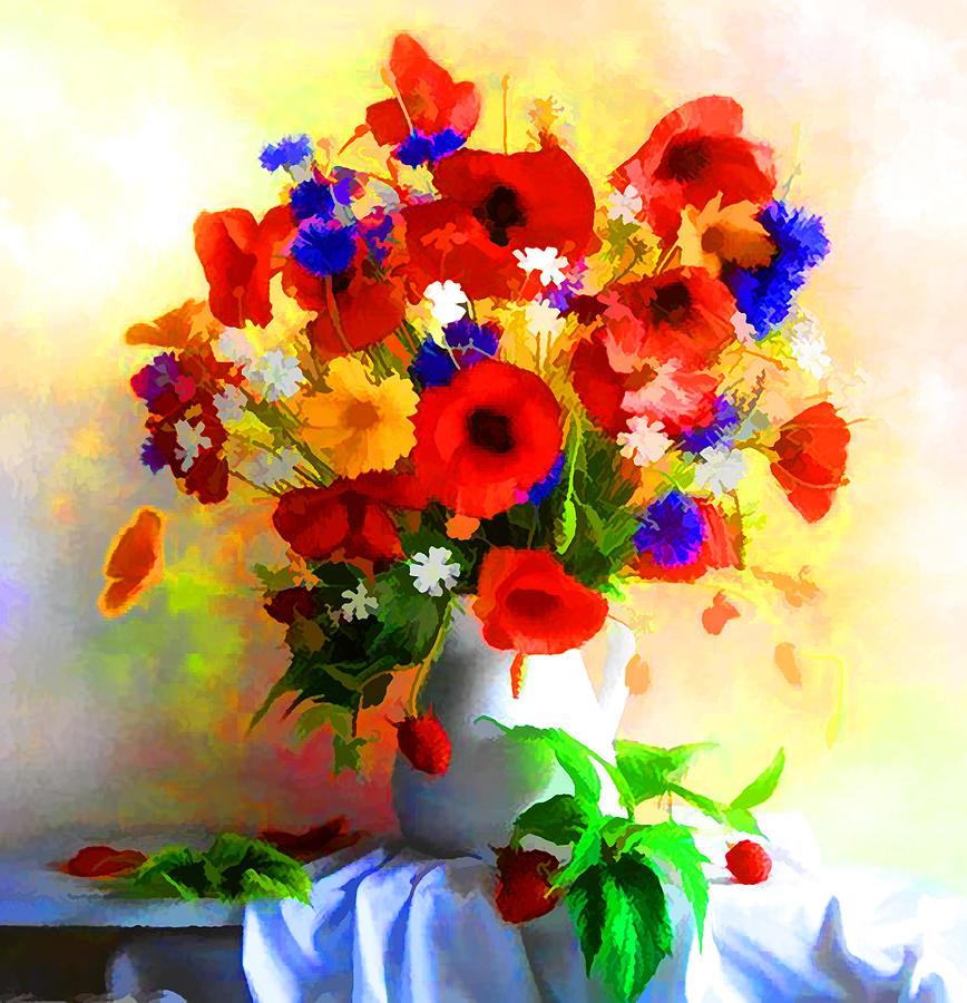 Poppy flower arrangement painting by lyriel lyra poppy painting poppy flower arrangement by lyriel lyra mightylinksfo