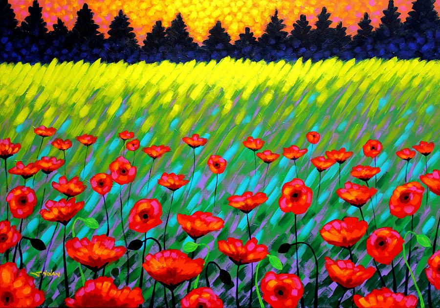 Nature Painting - Poppy Scape by John  Nolan
