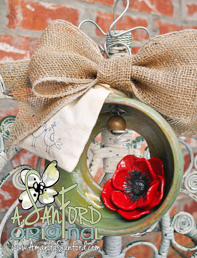 Wheel Thrown Ceramic Art - Poppy Seed And Feed by Amanda  Sanford