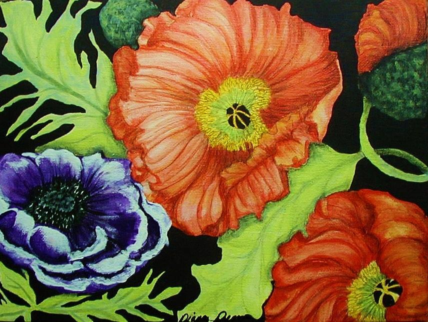 Poppies Painting - Poppy Surprise by Diana Dearen