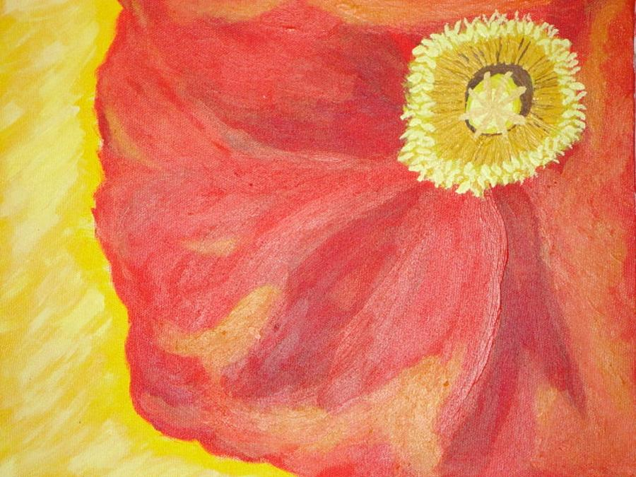 Poppy Painting - Poppy by Valerie Howell