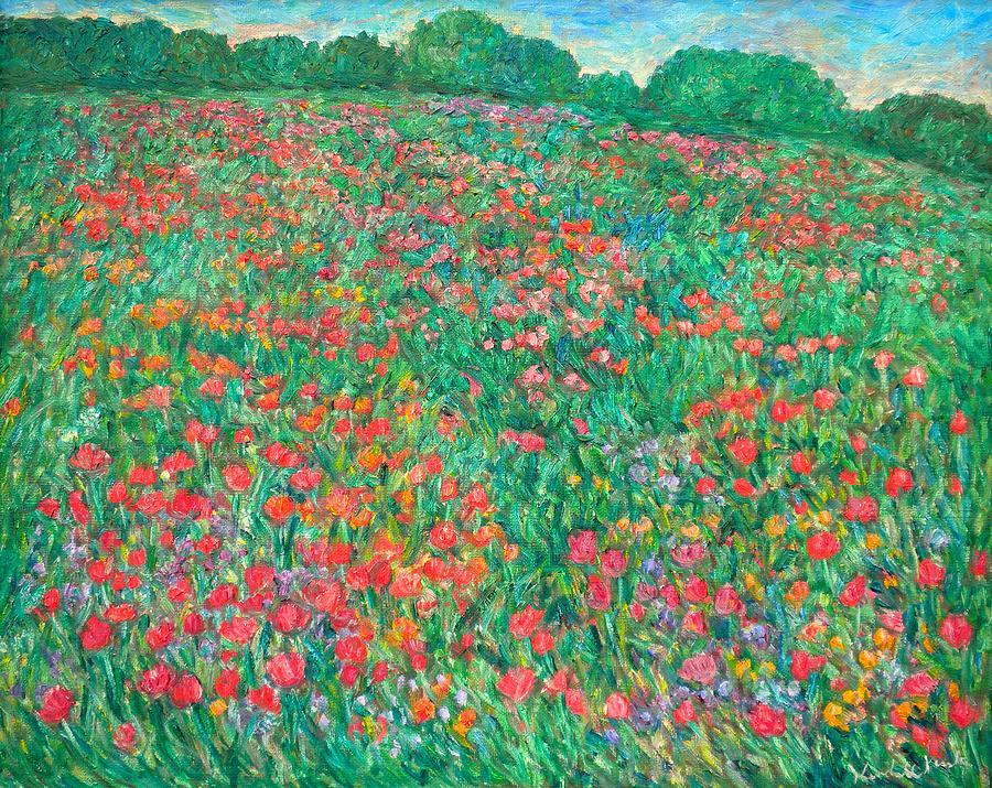 Poppy Painting - Poppy View by Kendall Kessler