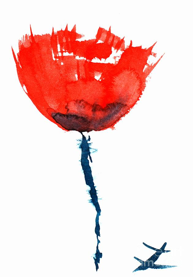 Poppies Painting - Poppy by Zaira Dzhaubaeva