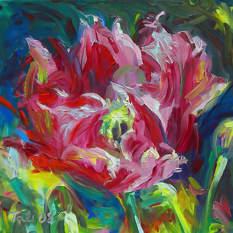 Red Painting - Poppys Secret  by Talya Johnson