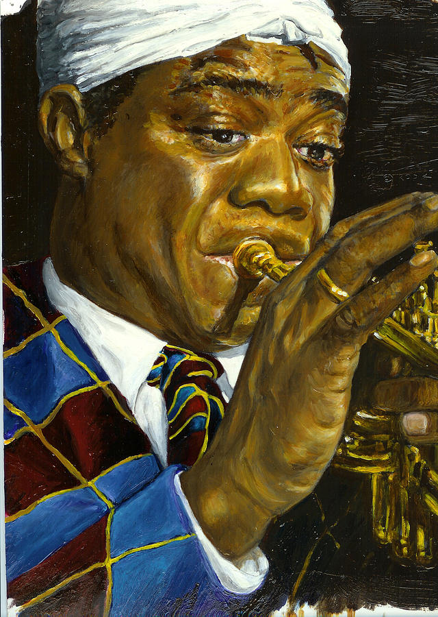 Jazz Musician Painting - Pops by Rudy Browne