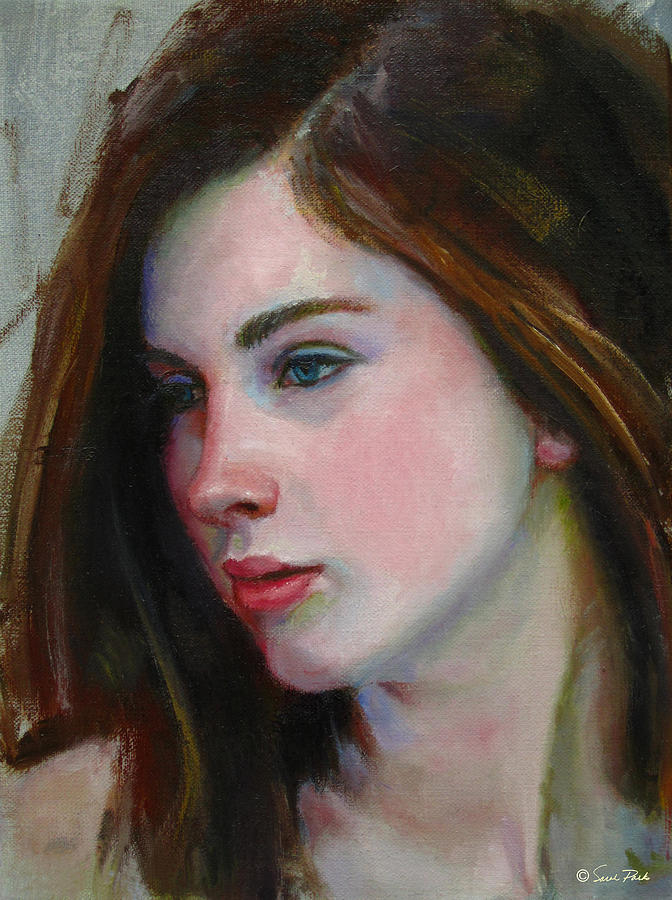 Figurative Painting - Porcelain Skin by Sarah Parks