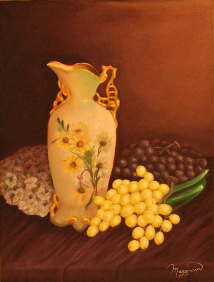 Still Life Painting - Porcelain Vase by Lou Magoncia