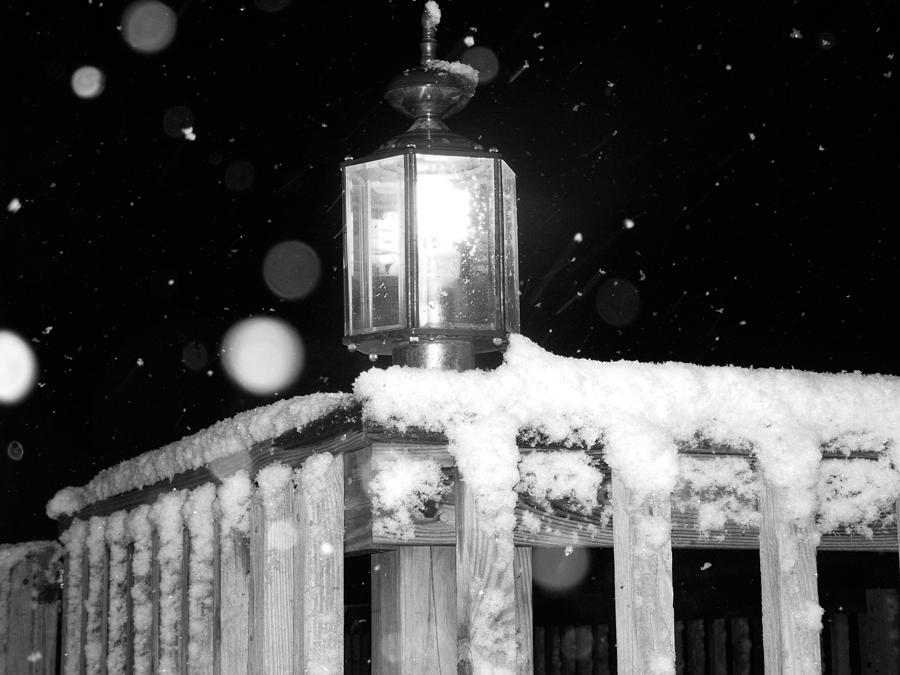 Porch Photograph - Porch Light Bw by Nelson Watkins