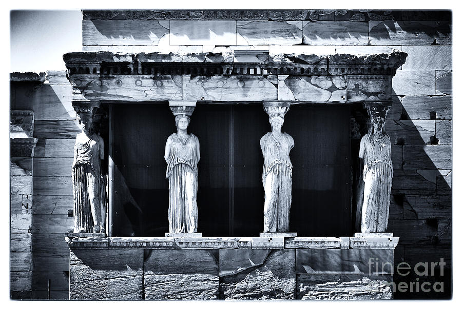 Porch Of The Caryatids Photograph - Porch Of The Caryatids by John Rizzuto