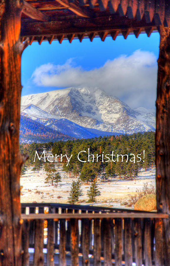 Porch View Christmas 4166 Photograph