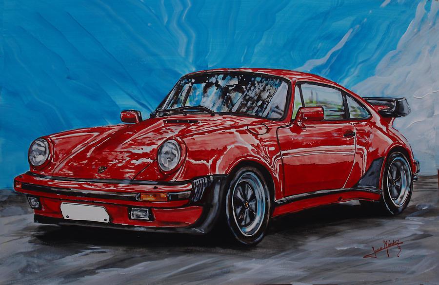 Porsche Painting - Porsche 911  by Juan Mendez