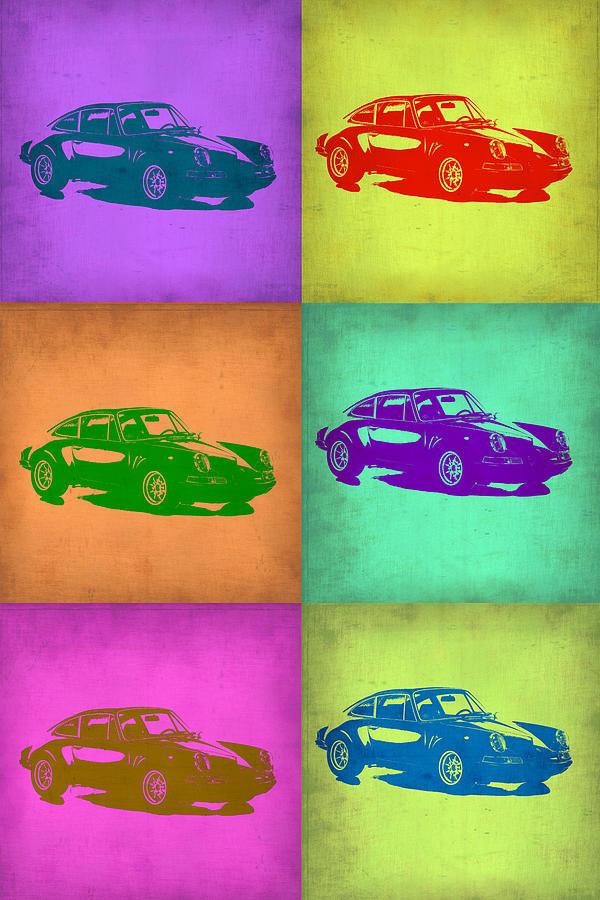 Porsche 911 Painting - Porsche 911 Pop Art 2 by Naxart Studio