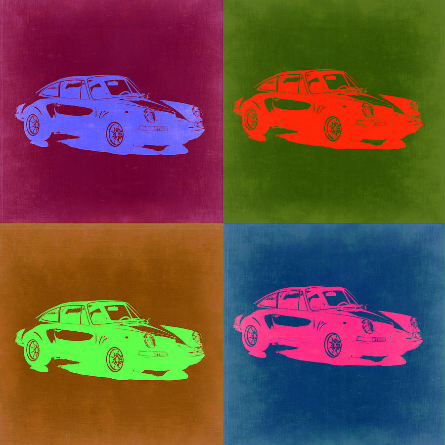 Porsche 911 Pop Art 3 Painting By Naxart Studio