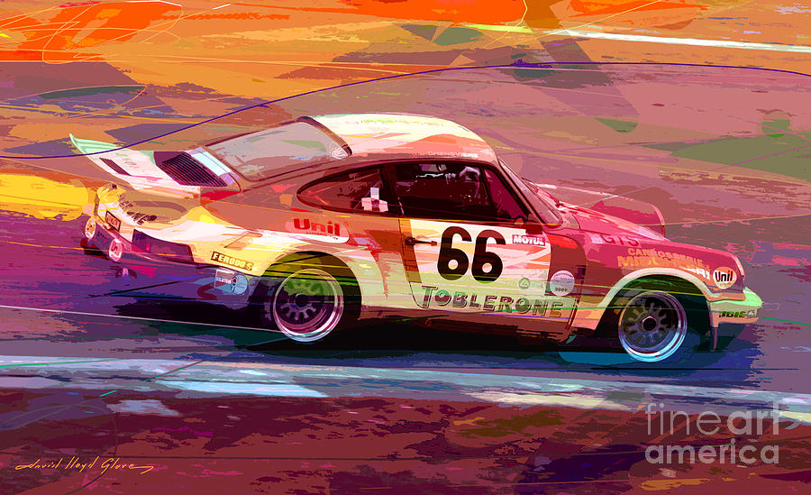 Porsche 911 Racing Painting By David Lloyd Glover
