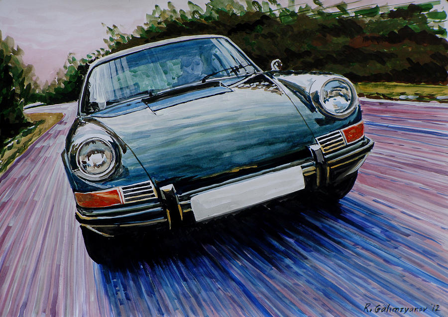 Porsche 911 Painting By Ildus Galimzyanov