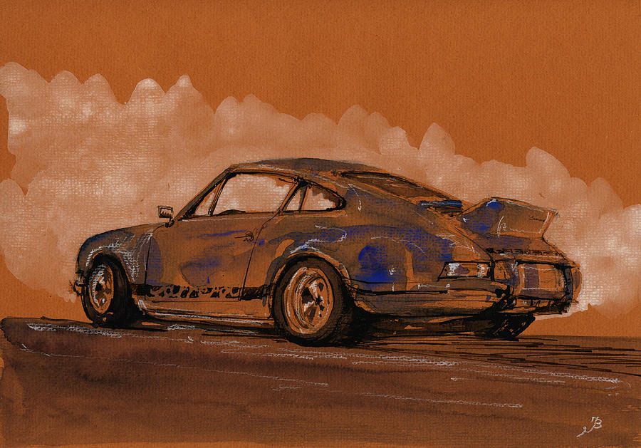 Porsche Painting - Porsche 911 Rs Classic by Juan  Bosco