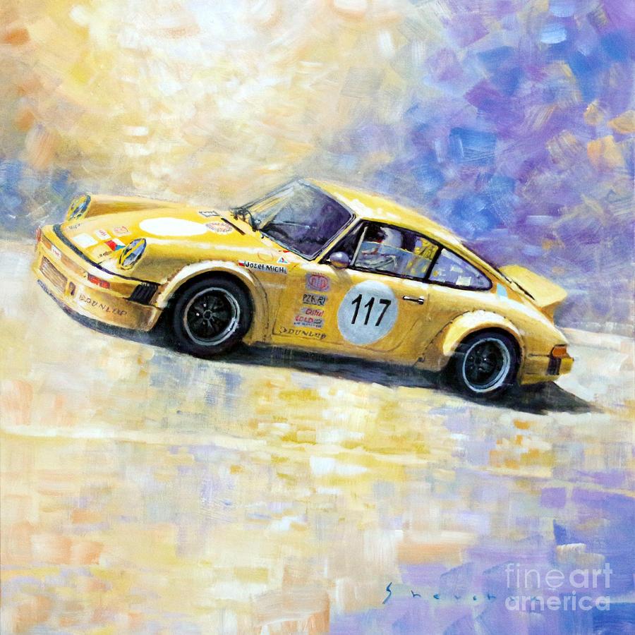 Home gt steve mcqueen porsche paintings - Porsche Painting Porsche 911 S Typ G Josef Michl By Yuriy Shevchuk