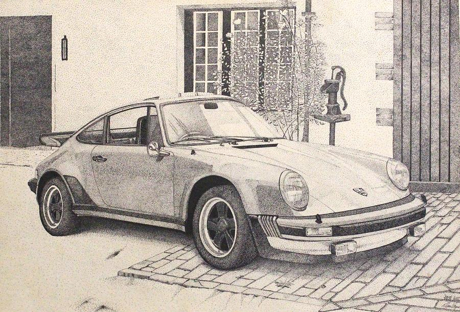 Porsche 911 Turbo Carrera Drawing By Roland Miguel