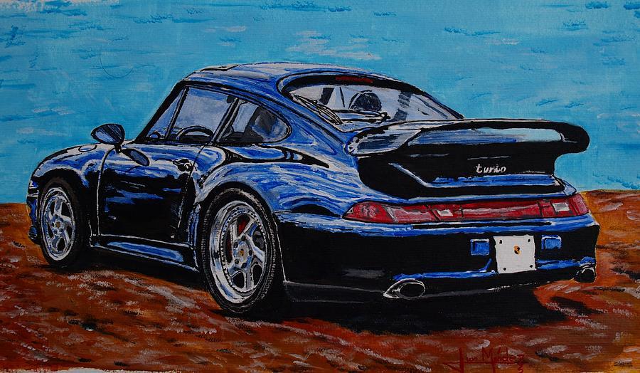 Porsche Painting - Porsche 911 Turbo  by Juan Mendez