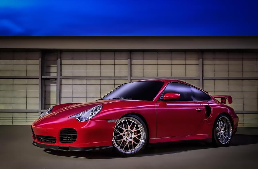 Red Digital Art - Porsche 911 Twin Turbo by Douglas Pittman