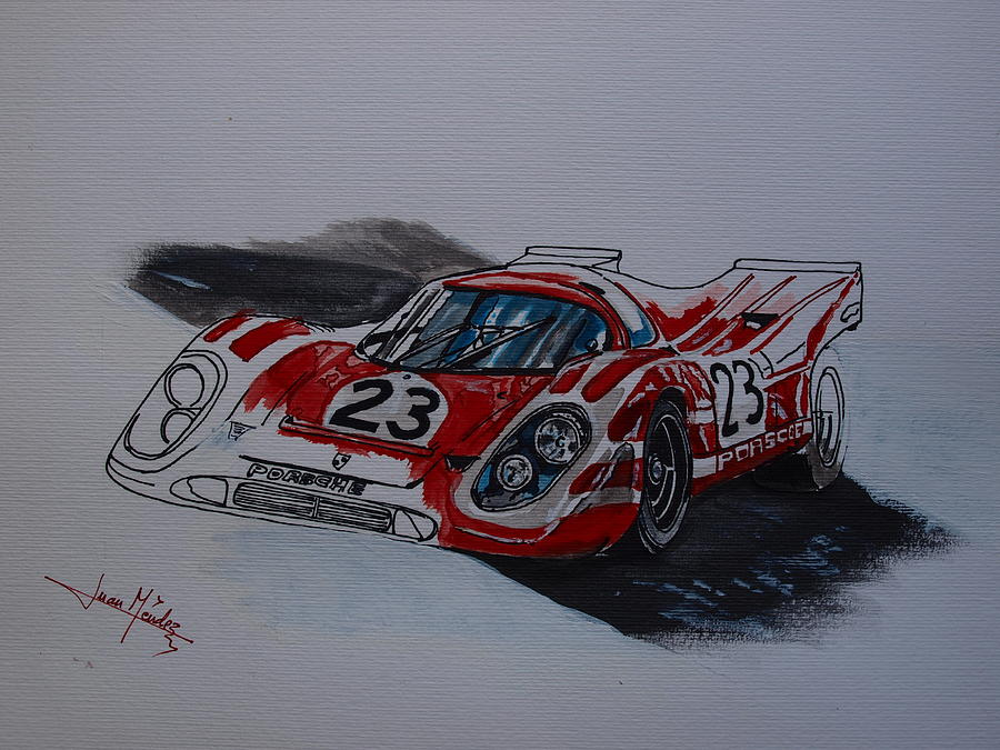 Porsche Painting - Porsche 917  by Juan Mendez