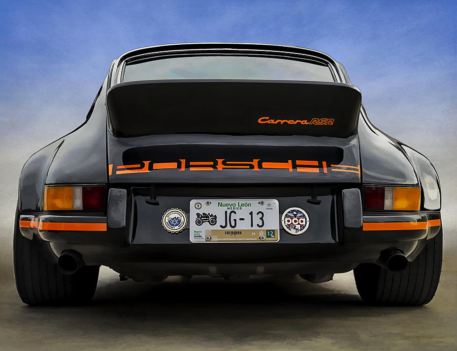 Black Digital Art - Porsche Carrera Rsr by Douglas Pittman