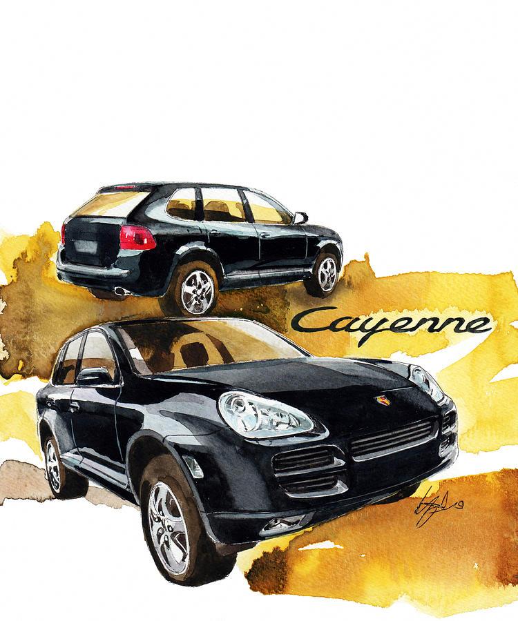Porsche Cayenne Painting - Porsche Cayenne by Yoshiharu Miyakawa