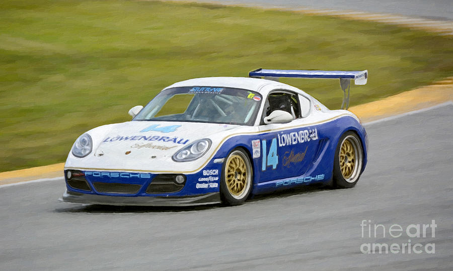 Porsche Cayman Lowenbrau Race Car Photograph By Tad Gage