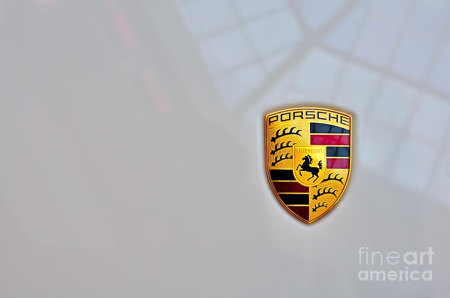 Porsche Photograph - Porsche Emblem by Andres LaBrada