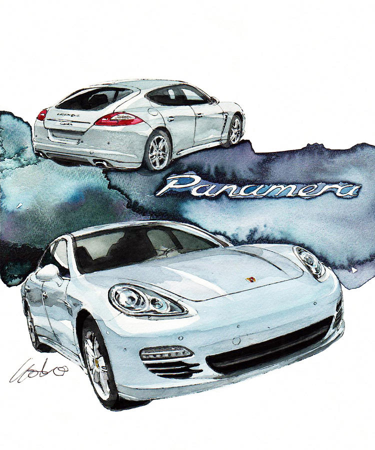 Porsche Panamera Painting - Porsche Panamera by Yoshiharu Miyakawa