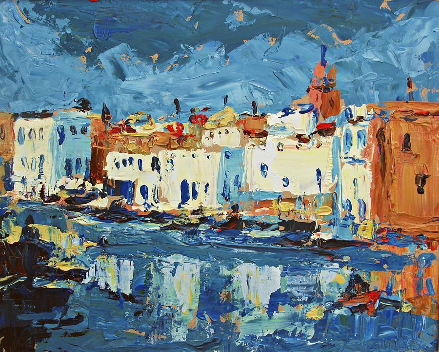 Landscape Paintings Painting - Port De Bizerte by Brian Simons