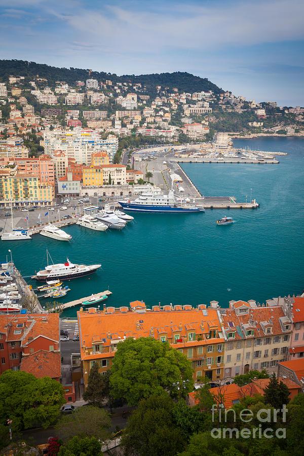 Cote D'azur Photograph - Port Du Nice by Inge Johnsson