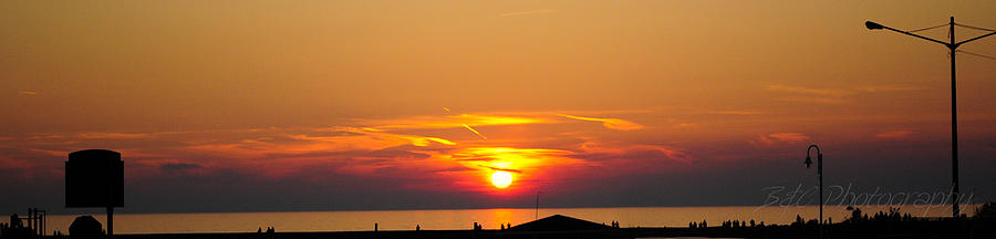 Sun Photograph - Port Elgin Sunset by BandC  Photography