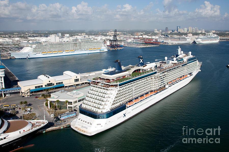 Fort Lauderdale Port >> Port Everglades Fort Lauderdale Fl Photograph By Bill Cobb