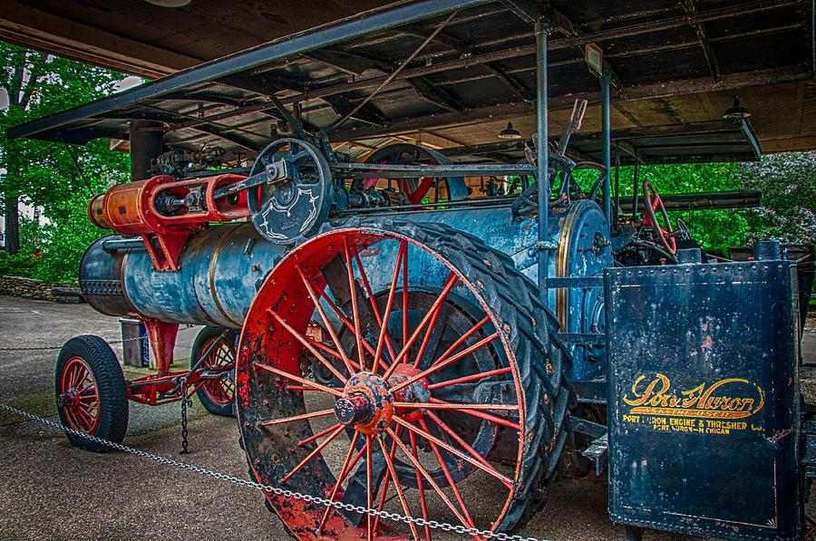 Farm Equipment Photograph - Port Huron Engine And Thresher Machine by Gene Sherrill