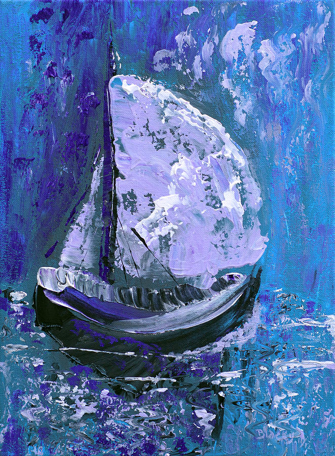 Ship Painting - Port In The Storm by Donna Blackhall