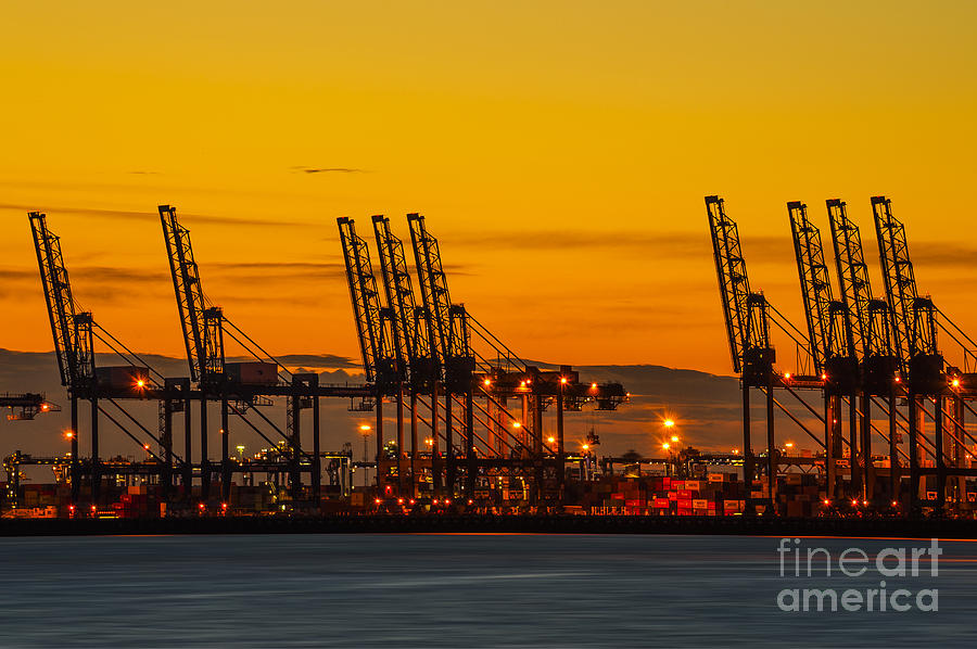 Bay Photograph - Port Of Felixstowe by Svetlana Sewell