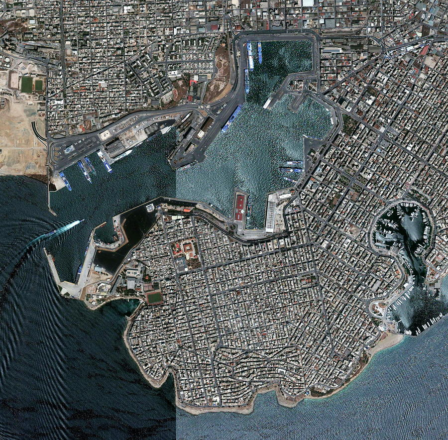 Piraeus Photograph - Port Of Piraeus by Geoeye/science Photo Library