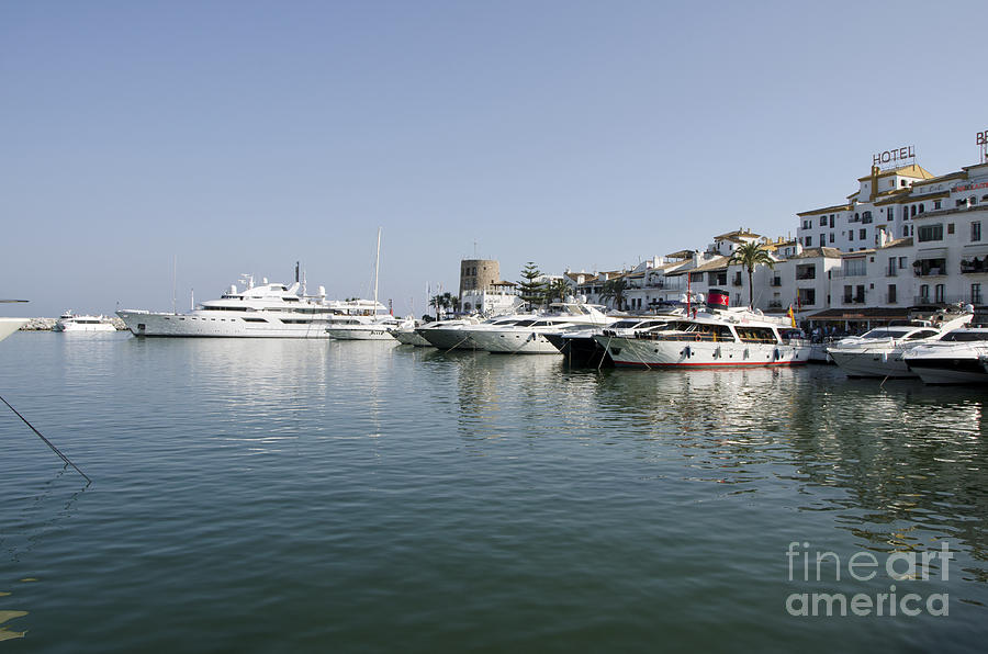 Port Of Puerto Banus With Yachts Photograph