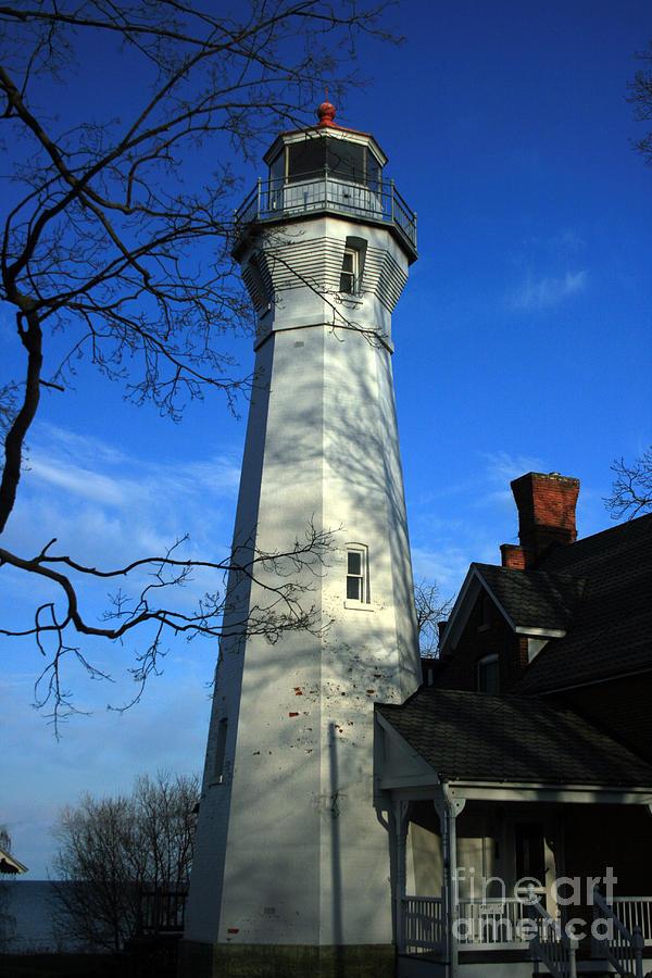 Landscape Photograph - Port Sanilac Lighthouse by Kathy DesJardins