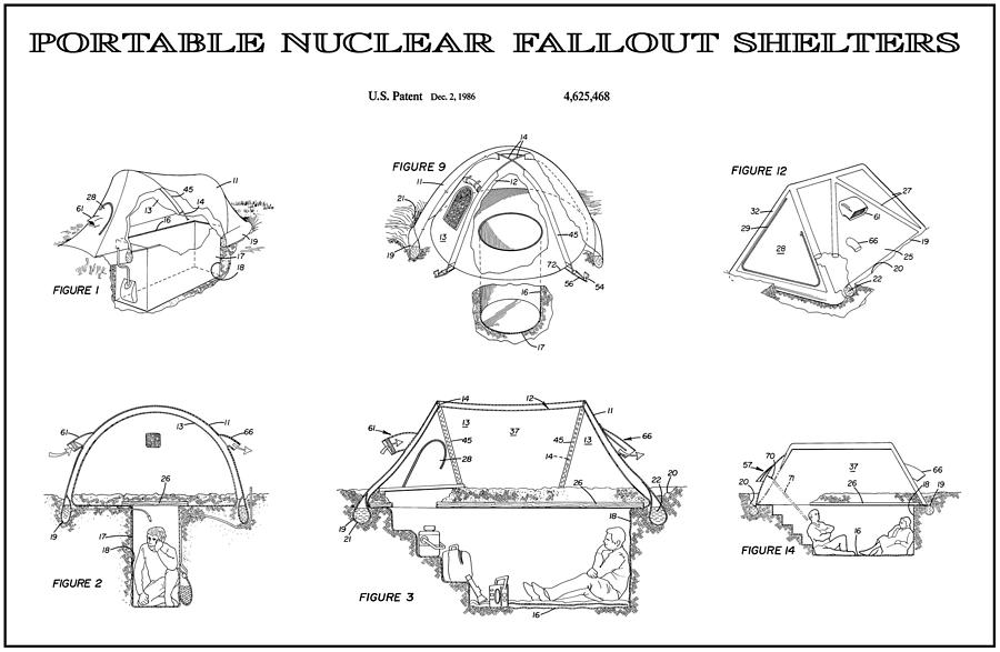 portable shelters portable nuclear fallout shelters 4 patent art 1986 digital art by