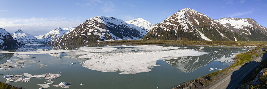 Alaska Photograph - Portage Lake Panorama by Tim Grams
