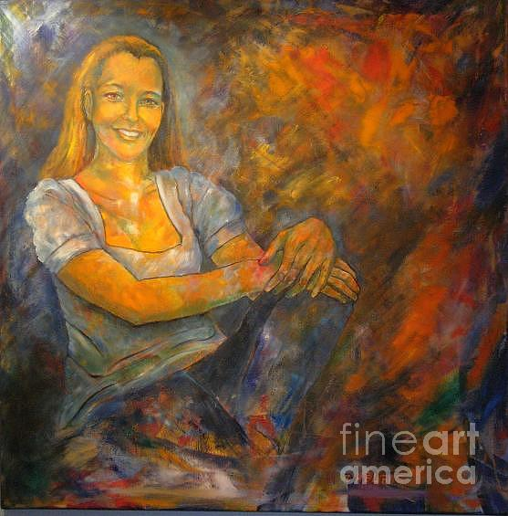 Portraits Painting - Portait Of Dr Christina Pressl by Dagmar Helbig